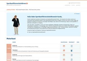 Sportbootführerschein24 Binnen Lernplattform
